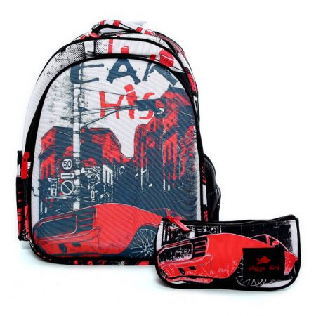 Glossy Bird Red Backpack