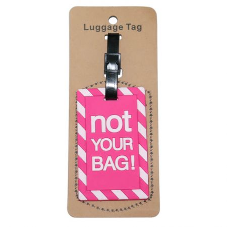 Pink Tag with quote