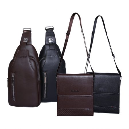 Shoulder bags long and square available in black and brown