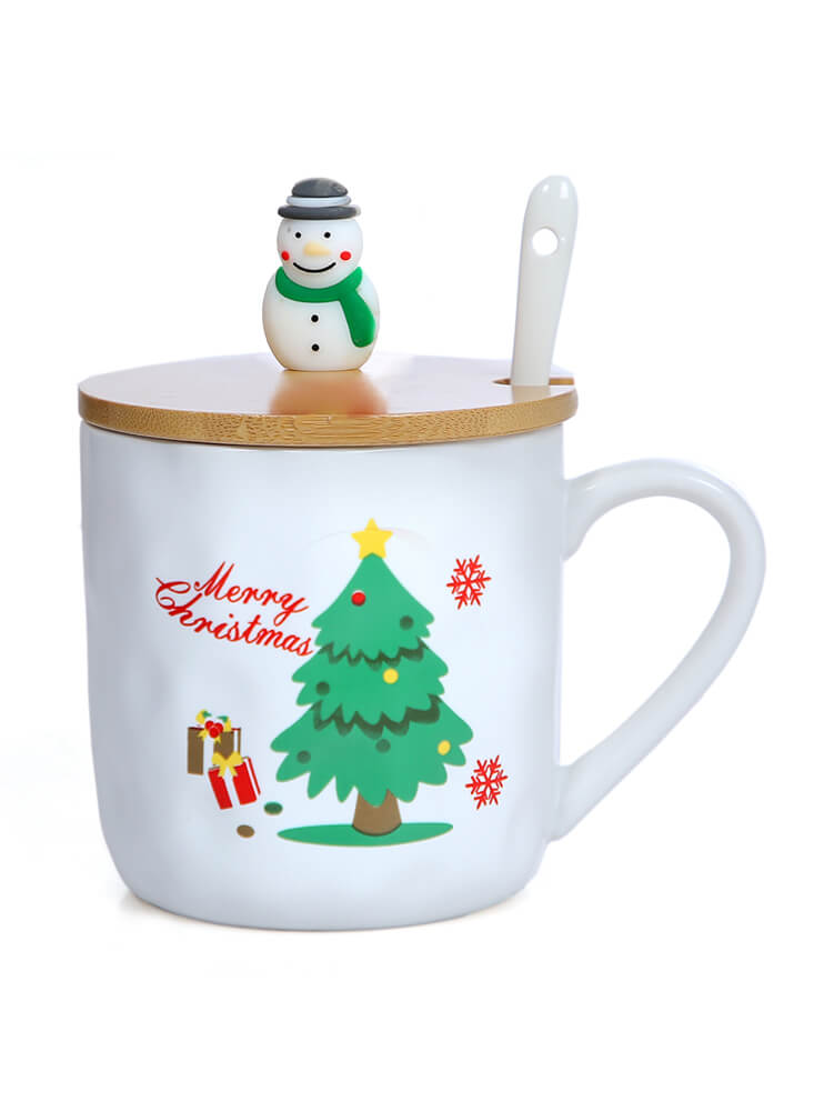 Christmas Tree Ceramic Cup