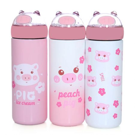 Cute Pig Vacuum Bottle