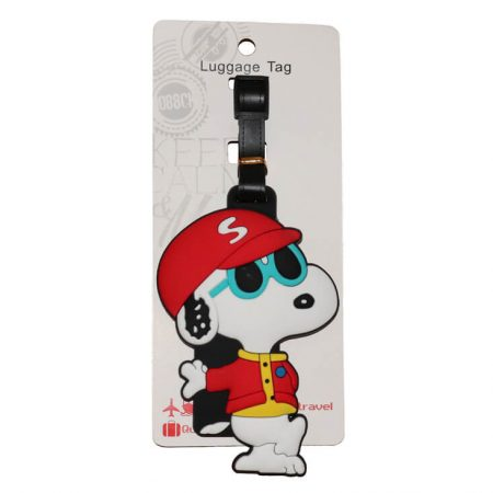 Red Snoopy Dog Tag