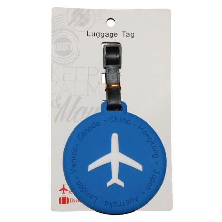 Blue Round with Airplane